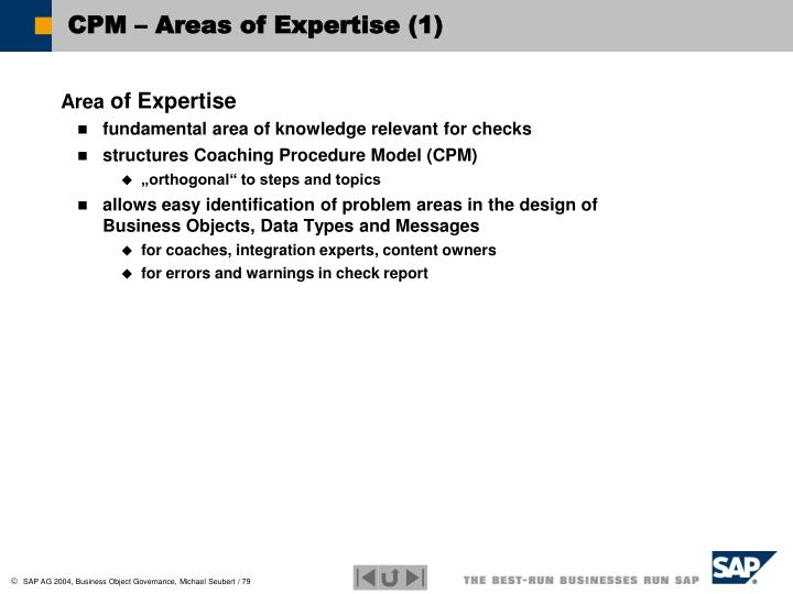 CPM – Areas of Expertise (1)