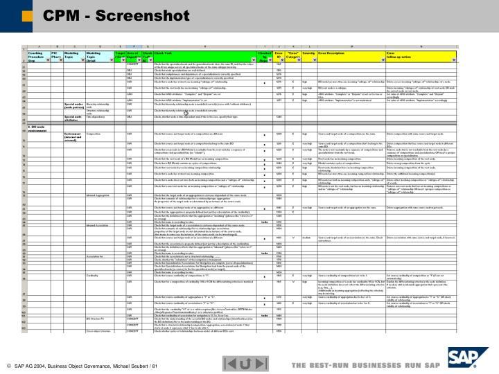 CPM - Screenshot