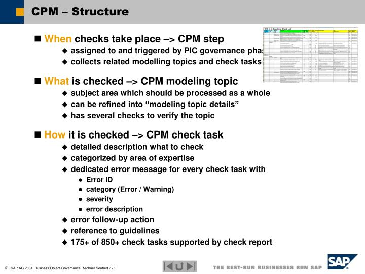 CPM – Structure