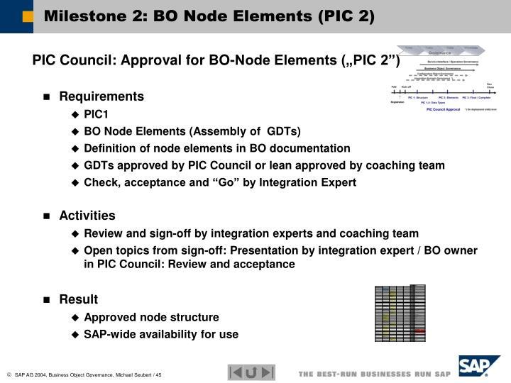 Milestone 2: BO Node Elements (PIC 2)