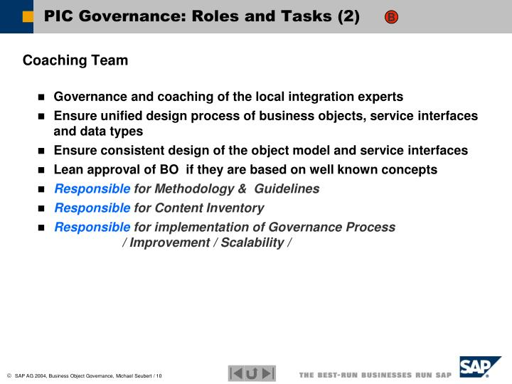 PIC Governance: Roles and Tasks (2)