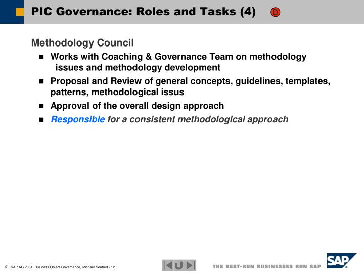 PIC Governance: Roles and Tasks (4)
