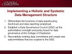 implementing a holistic and systemic data management structure