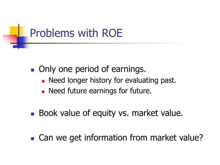 Problems with ROE