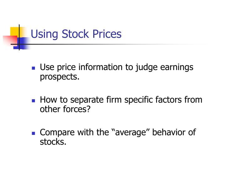 Using Stock Prices