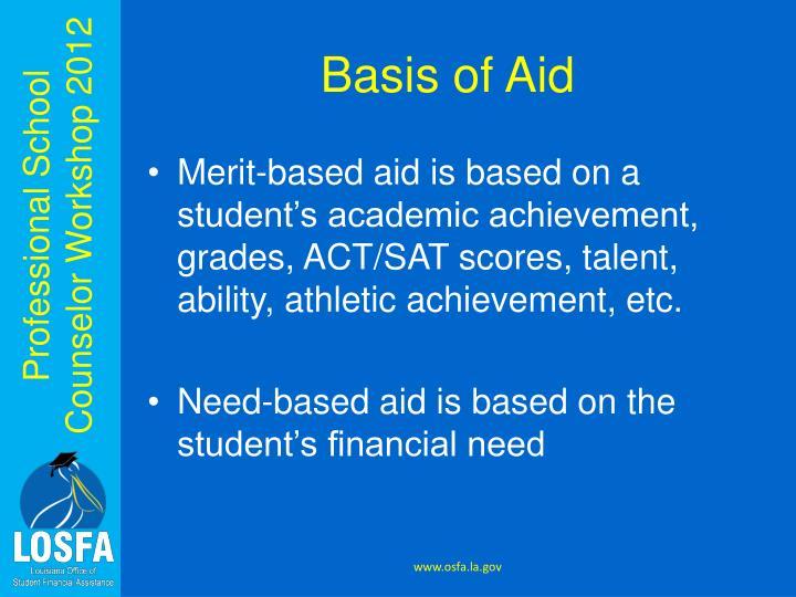 Basis of Aid