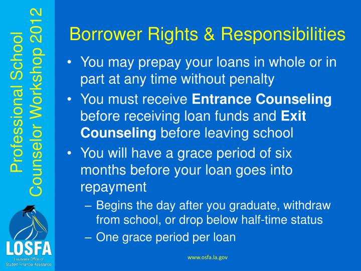Borrower Rights & Responsibilities