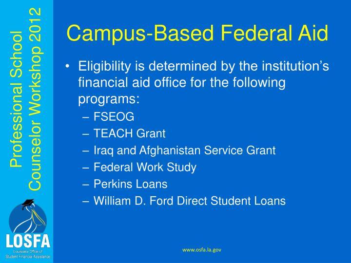 Campus-Based Federal Aid