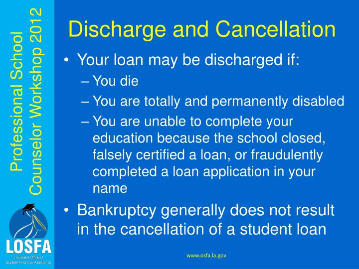 Discharge and Cancellation