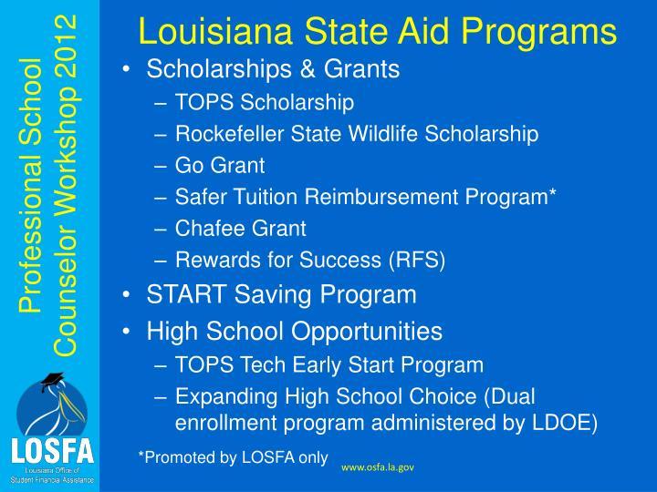 Louisiana State Aid Programs