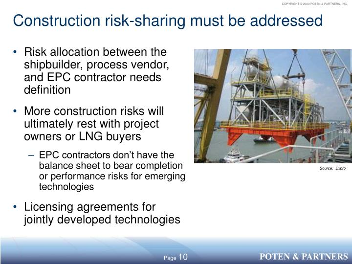 Construction risk-sharing must be addressed