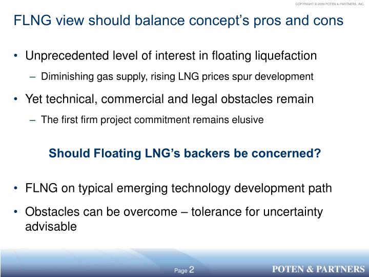 FLNG view should balance concept's pros and cons