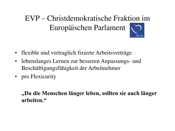 EVP – Christdemokratische Fraktion im Europäischen Parlament
