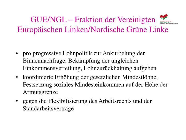 GUE/NGL – Fraktion der Vereinigten