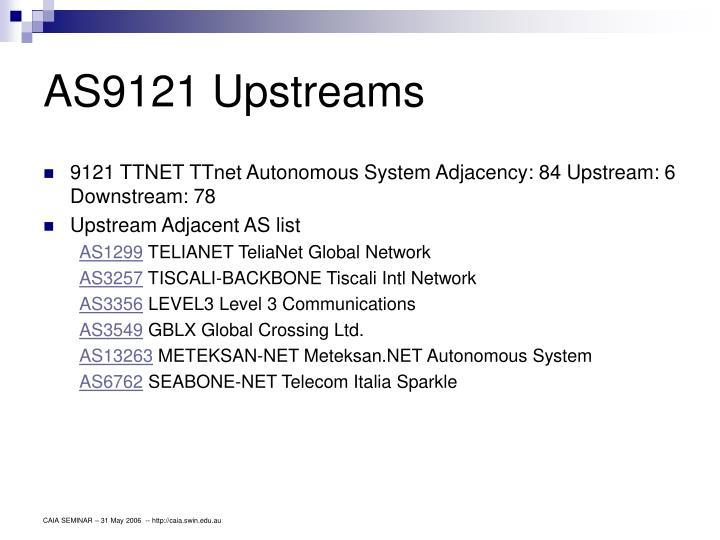 AS9121 Upstreams