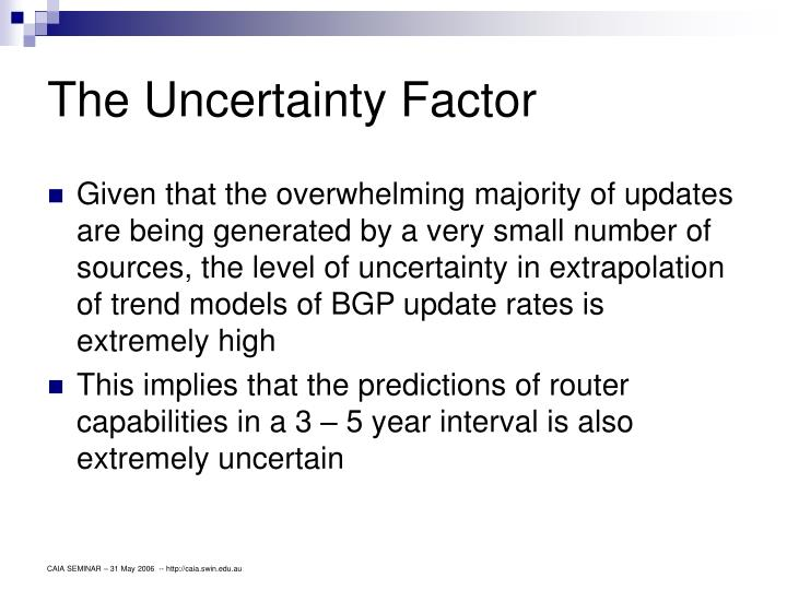 The Uncertainty Factor