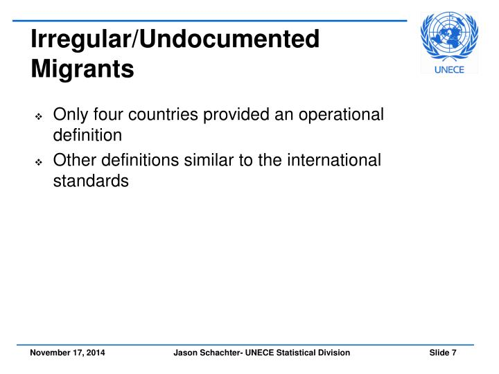 Irregular/Undocumented Migrants