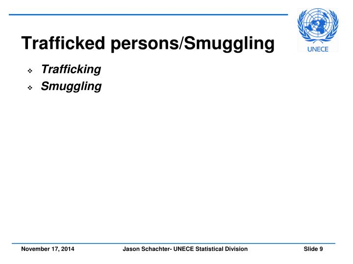 Trafficked persons/Smuggling