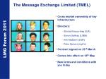 the message exchange limited tmel