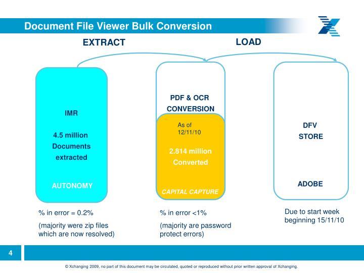 Document File Viewer Bulk Conversion