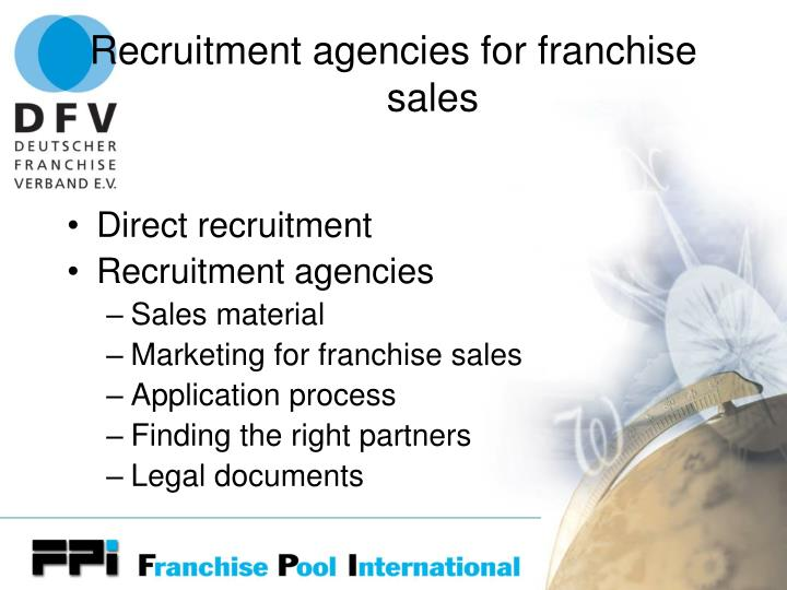 Recruitment agencies for franchise sales