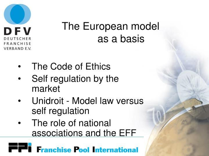 The European model
