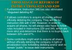 first stage of reform of instructions 229 and 2991