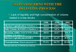 main concerns with the delisting process
