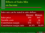 effects of sales mix on income8