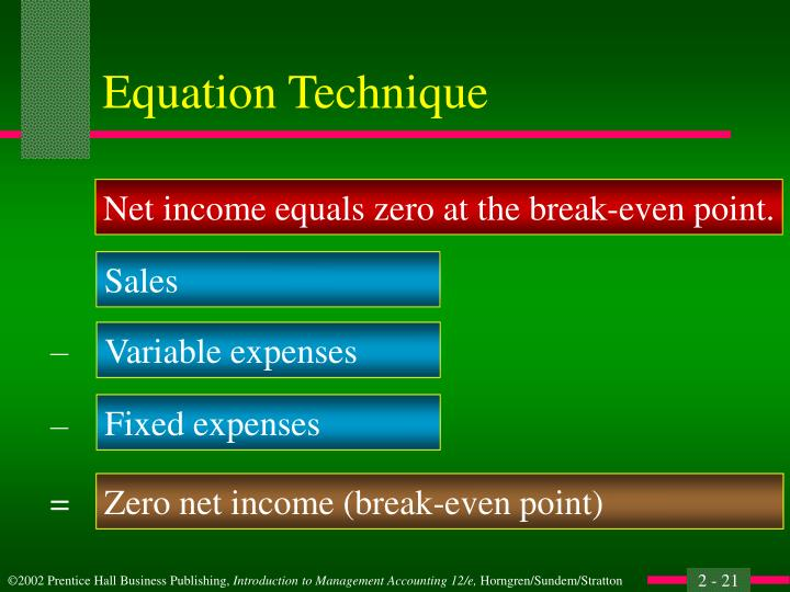 Equation Technique