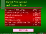 target net income and income taxes2