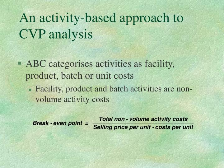 An activity-based approach to CVP analysis