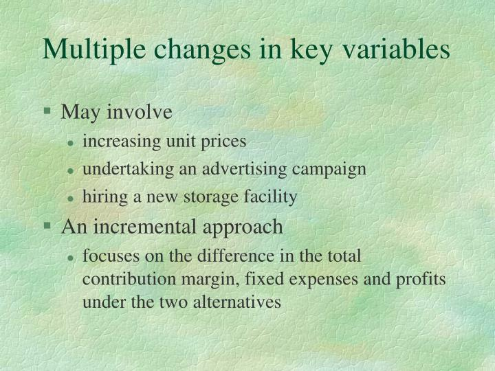 Multiple changes in key variables