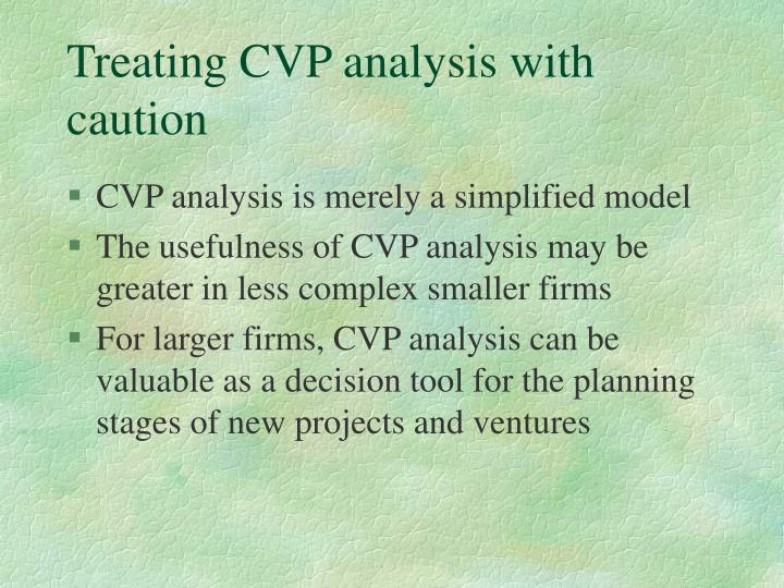 Treating CVP analysis with caution