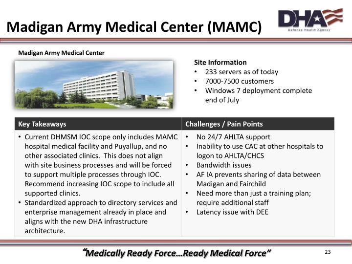 Madigan Army Medical Center (MAMC)