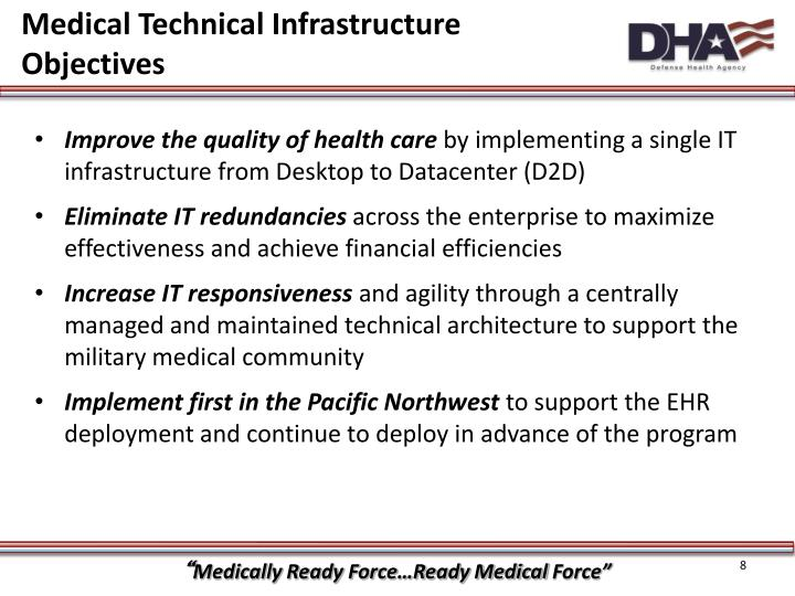 Medical Technical Infrastructure Objectives