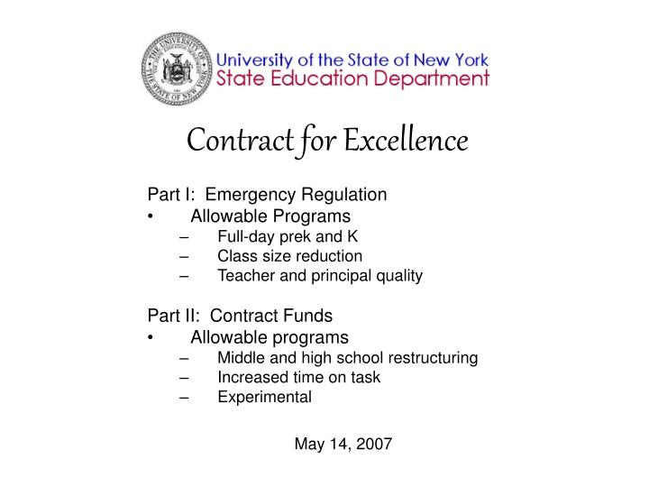 Contract for Excellence