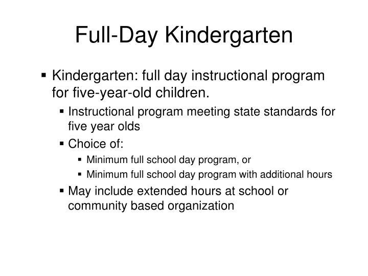 Full-Day Kindergarten