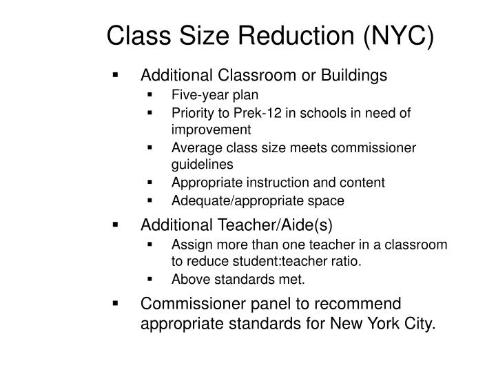Class Size Reduction (NYC)