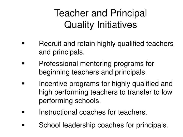 Teacher and Principal