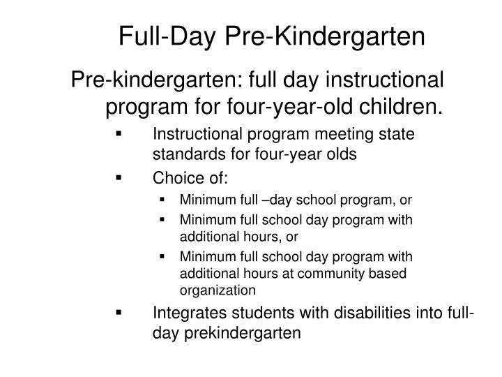 Full-Day Pre-Kindergarten
