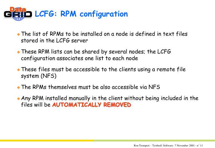LCFG: RPM configuration