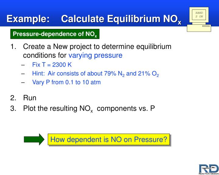 Example:Calculate Equilibrium NO