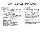 conclusions homework