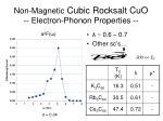 non magnetic cubic rocksalt cuo electron phonon properties