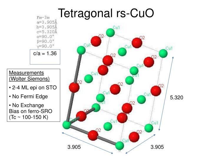 Tetragonal rs-CuO