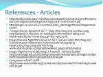 references articles