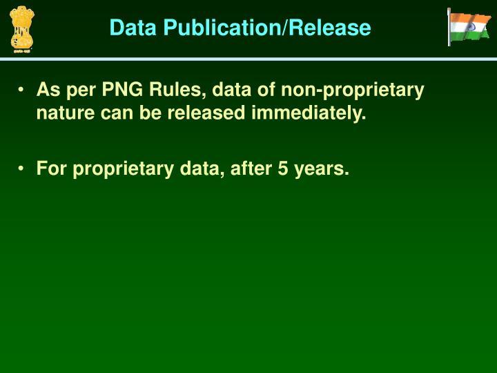 Data Publication/Release