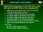 data types and volume