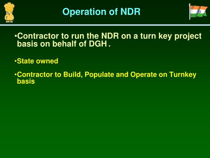 Operation of NDR